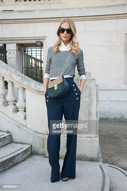 Model Poppy Delavine wears all Chloe at the Chloe show on day 6 of Paris Collections Women on March 08 2015 in Paris France