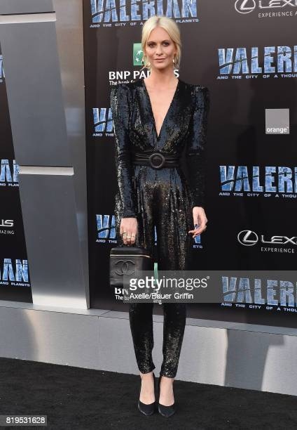 Model Poppy Delevingne arrives at the Los Angeles premiere of 'Valerian and the City of a Thousand Planets' at TCL Chinese Theatre on July 17 2017 in...