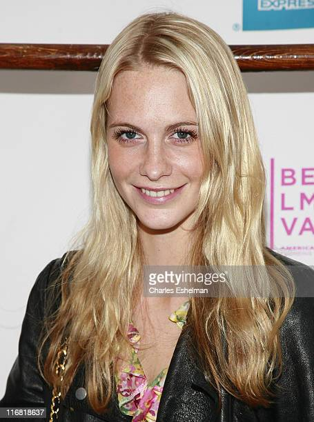 Model Poppy Delevingne arrives at the Premiere Of 'Hotel Gramercy Park' At The 2008 Tribeca Film Festival at Directors Guild Theatre on April 26 2008...