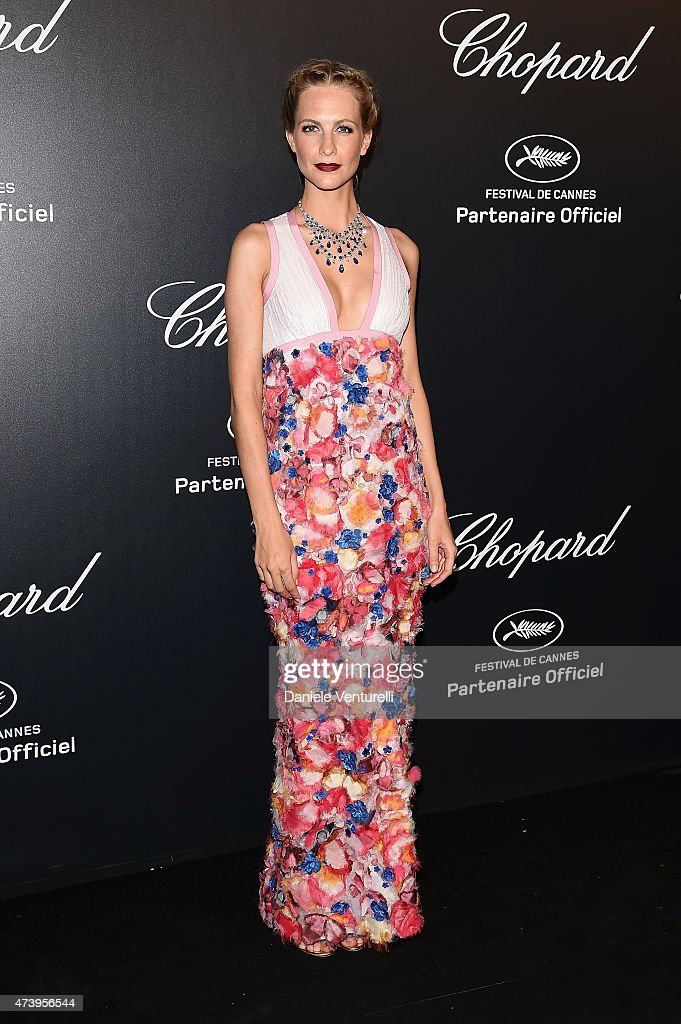 Model Poppy Delevingne attends a celebrity party during the 68th annual Cannes Film Festival on May 18, 2015 in Cannes, France.