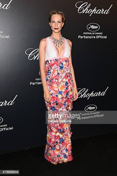 Model Poppy Delevingne attends a celebrity party during the 68th annual Cannes Film Festival on May 18 2015 in Cannes France