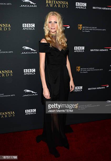 Model Poppy Delevingne attends the 2013 BAFTA LA Jaguar Britannia Awards presented by BBC America at The Beverly Hilton Hotel on November 9 2013 in...