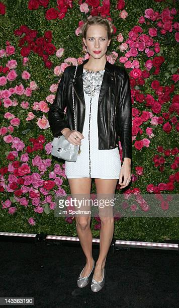 Model Poppy Delevingne attends the 7th Annual Chanel Tribeca Film Festival Artists Dinner at The Odeon on April 24 2012 in New York City