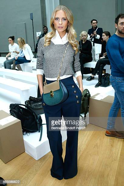 Model Poppy Delevingne attends the Chloe show as part of the Paris Fashion Week Womenswear Fall/Winter 2015/2016 on March 8 2015 in Paris France