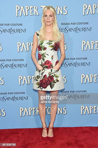 Model Poppy Delevingne attends the New York premiere of 'Paper Towns' at AMC Loews Lincoln Square on July 21 2015 in New York City
