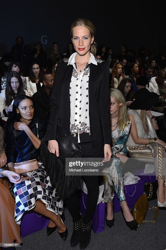 Model Poppy Delevingne attends the Noon By Noor Fall 2013 fashion show during Mercedes-Benz Fashion at The Studio at Lincoln Center on February 8, 2013 in New York City.