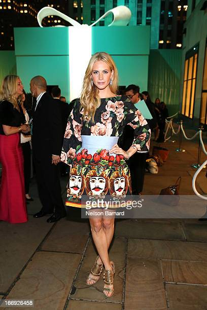 Model Poppy Delevingne is wearing Diamonds from the Tiffany Co 2013 Blue Book Collection as she attends the Tiffany Co Blue Book Ball at Rockefeller...