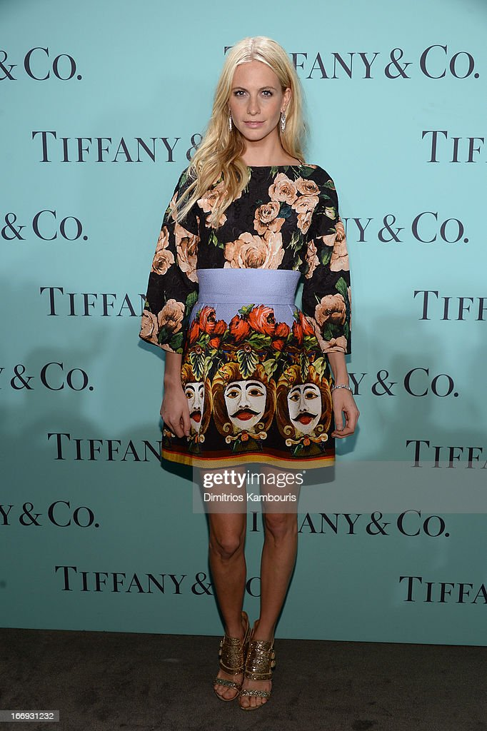 Model Poppy Delevingne is wearing Diamonds from the Tiffany & Co. 2013 Blue Book Collection as she attends the Tiffany & Co. Blue Book Ball at Rockefeller Center on April 18, 2013 in New York City.