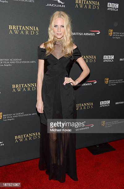 Model Poppy Delevingne with Stylebopcom attends the 2013 BAFTA LA Jaguar Britannia Awards presented by BBC America at The Beverly Hilton Hotel on...