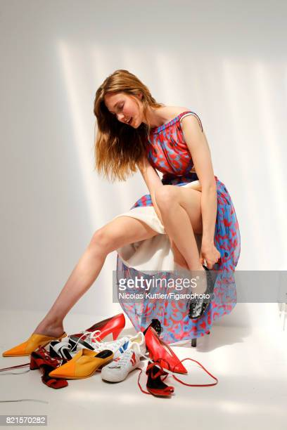 Model poses at a fashion shoot for Madame Figaro on June 9 2017 in Paris France Dress and shoes PUBLISHED IMAGE CREDIT MUST READ Nicolas...