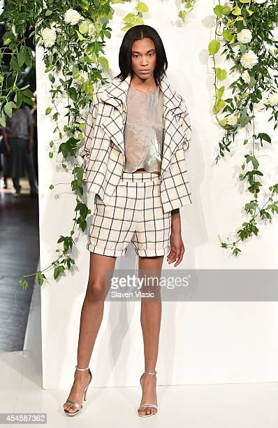 A model poses at Kaelen Presentation during MercedesBenz Fashion Week Spring 2015 at The Highline Hotel on September 3 2014 in New York City