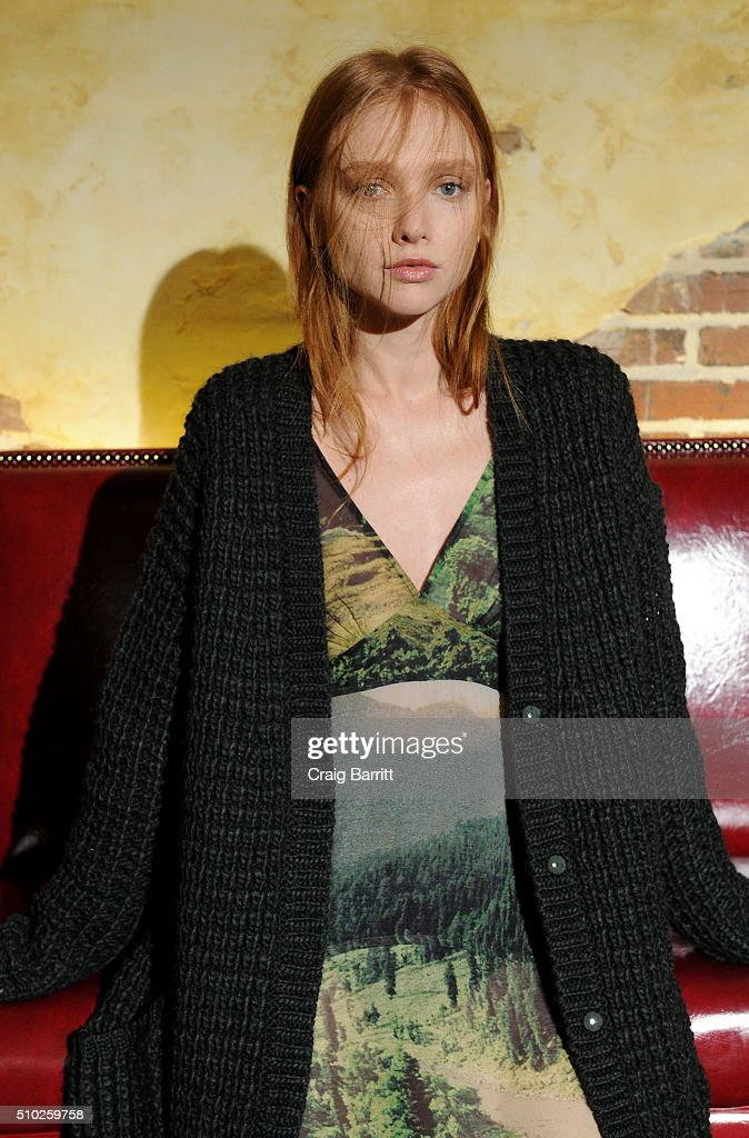 A model poses at Mary Kay at Tracy Reese F/W '16- Presentation during New York Fashion Week at Roxy Hotel on February 14, 2016 in New York City.