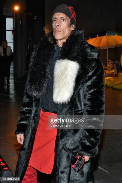 A model poses at the Adrienne Landau presentation during New York Fashion Week Fall Winter 20172018 on February 14 2017 in New York City