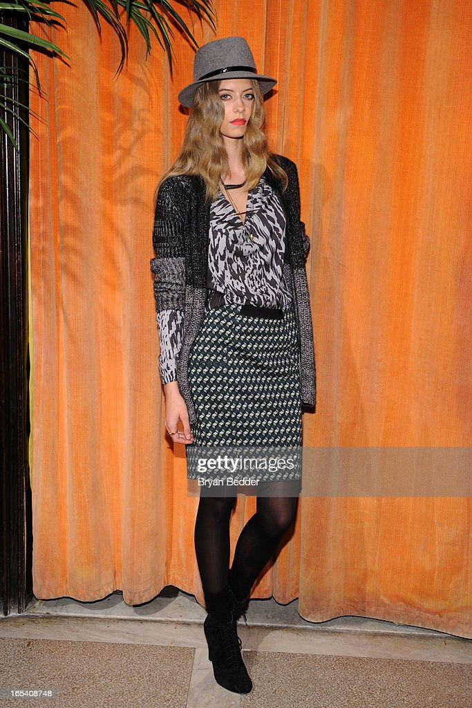 A model poses at the COREY Fall 2013 Launch Party hosted by Nora Zehetner at The Jane Hotel on April 3, 2013 in New York City.