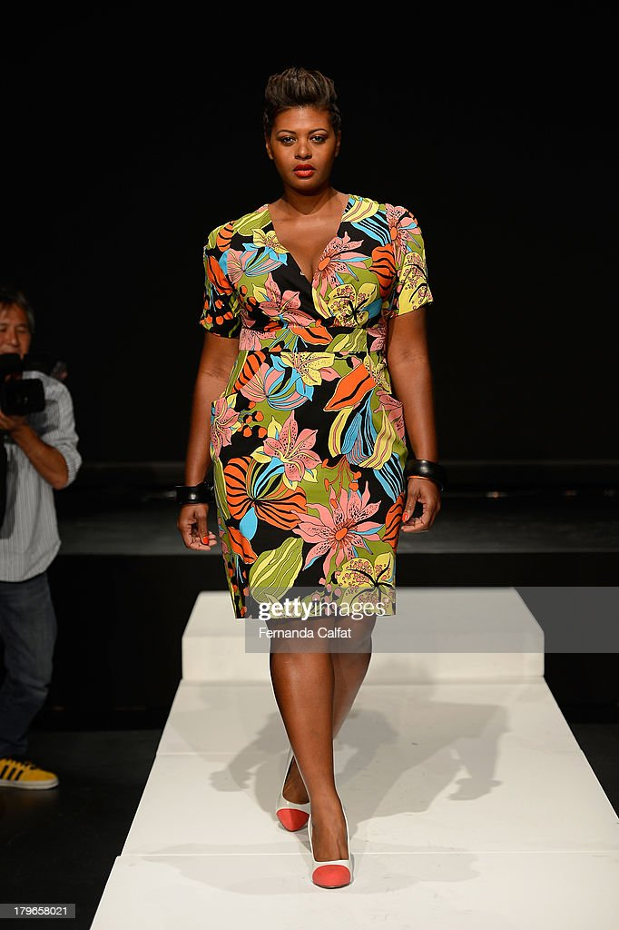 A model poses at the Fashion Law Institute Spring 2014 fashion presentation during Mercedes-Benz Fashion Week at The Box at Lincoln Center on September 6, 2013 in New York City.