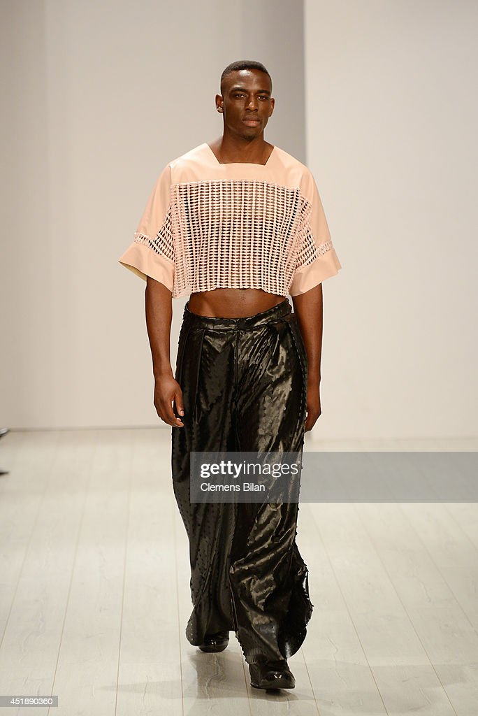 A model poses at the Franziska Michael show during the Mercedes-Benz Fashion Week Spring/Summer 2015 at Erika Hess Eisstadion on July 9, 2014 in Berlin, Germany.