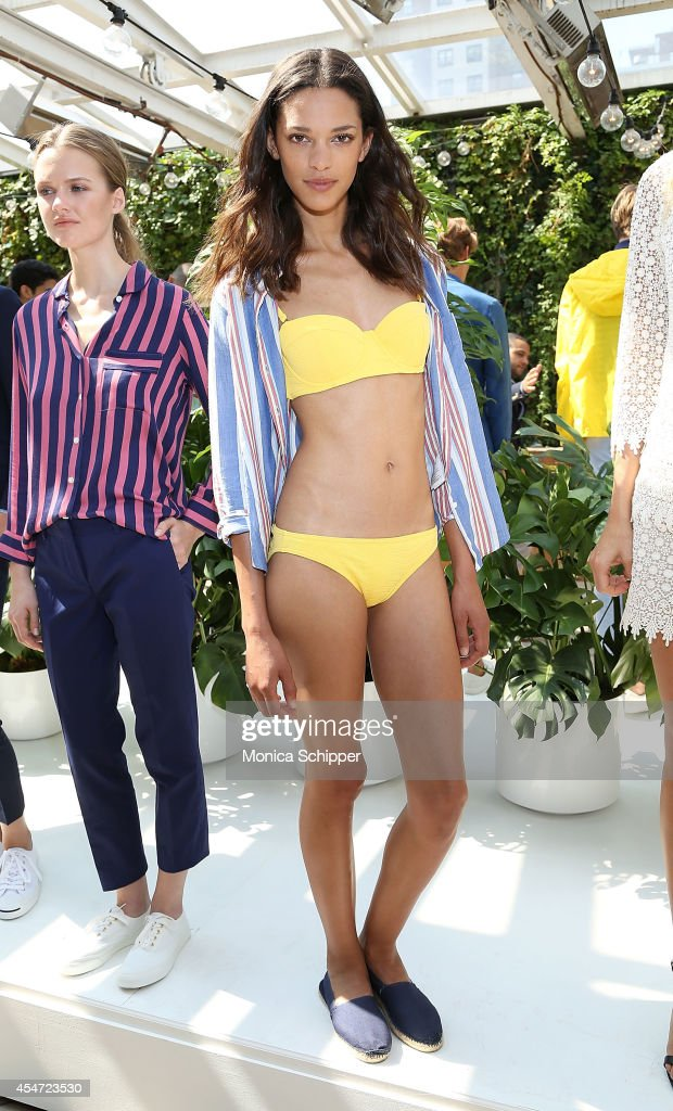 A model poses at the Gant Rugger presentation during MercedesBenz Fashion Week Spring 2015 at Maritime Hotel on September 5 2014 in New York City