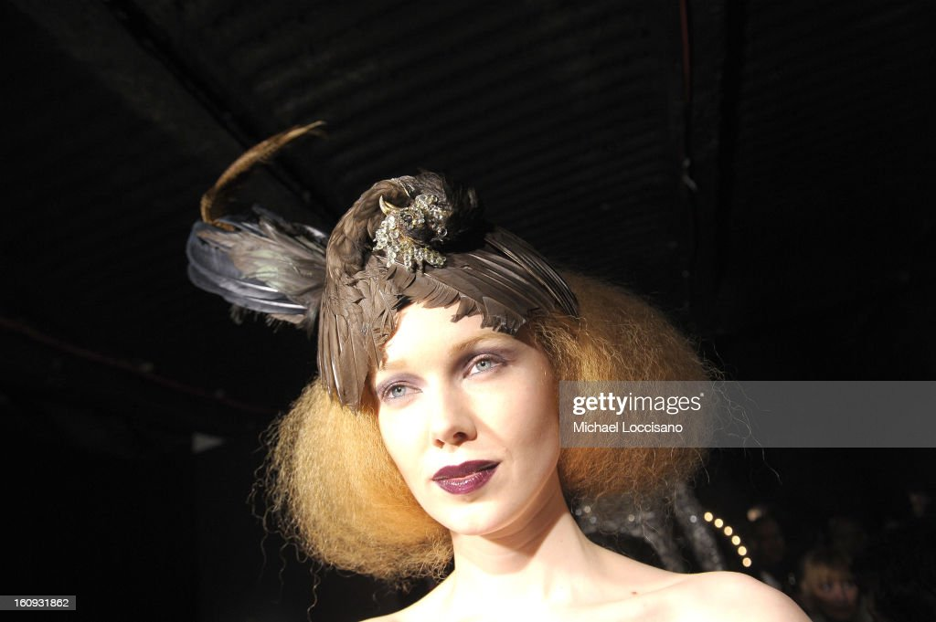 A model poses at the Immortal Love Pop-up Experience - Freakshow & Immortalized on February 7, 2013 in New York City.