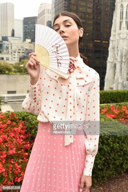 A model poses at the Juicy Couture presentation during New York Fashion Week at 620 Loft Garden on September 13 2017 in New York City