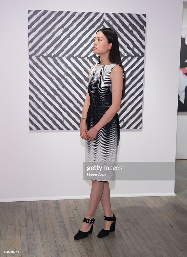 A model poses at the Kimora Lee Simmons presentation during Fall 2016 New York Fashion Week on February 12, 2016 in New York City.