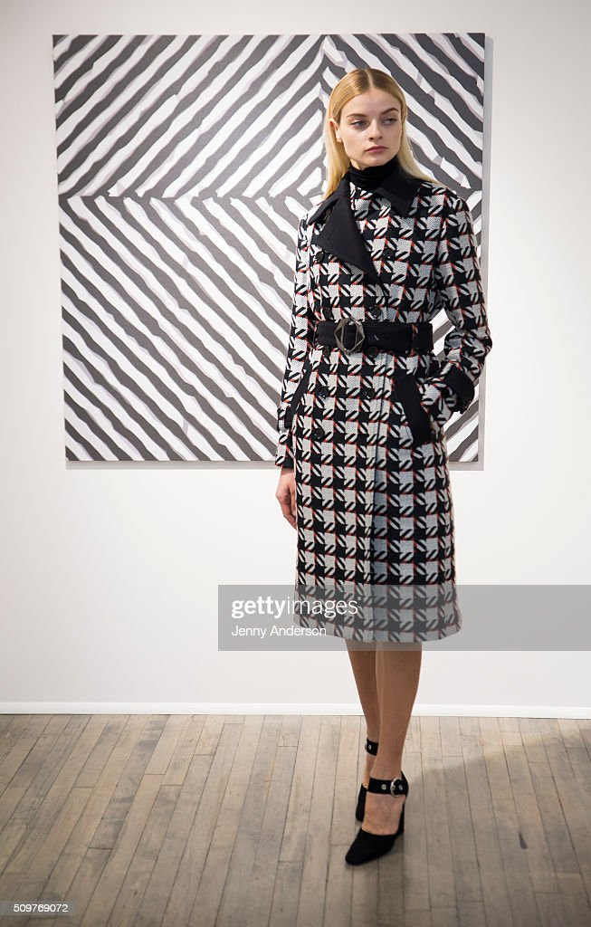 A model poses at the Kimora Lee Simmons Presentation during the Fall 2016 New York Fashion Week on February 12, 2016 in New York City.