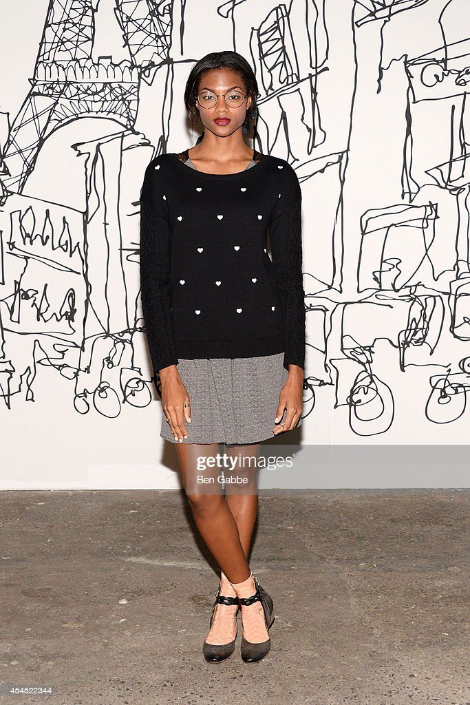 A model poses at the Maison Jules Presentation during Mercedes-Benz Fashion Week Spring 2015 at Art Beam on September 2, 2014 in New York City.
