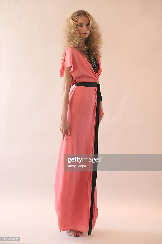 A model poses at the Rita Vinieris Debut Collection presentation during Mercedes-Benz Fashion Week Spring 2014 at The London Hotel on September 4, 2013 in New York City.