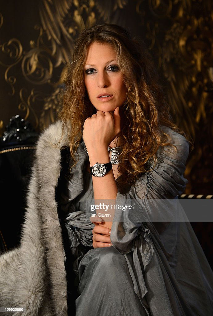 A model poses at the Roger Dubuis booth during the 23rd Salon International de la Haute Horlogerie at the Geneva Palexpo on January 23, 2013 in Geneva, Switzerland.