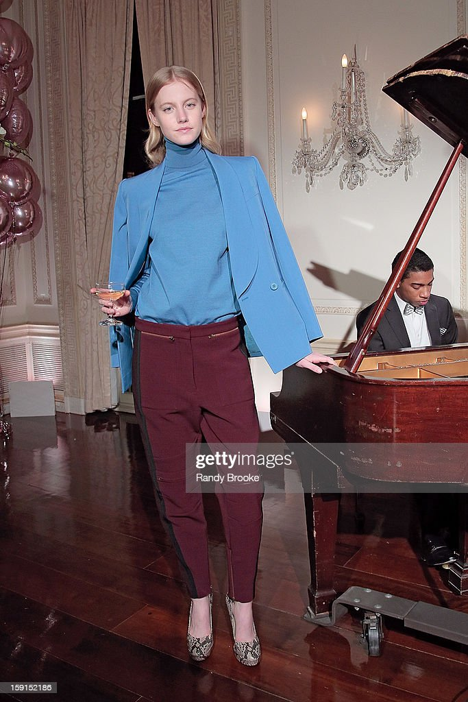A model poses at the Stella McCartney Autumn 2013 Presentation at 680 Park Avenue on January 8, 2013 in New York City.