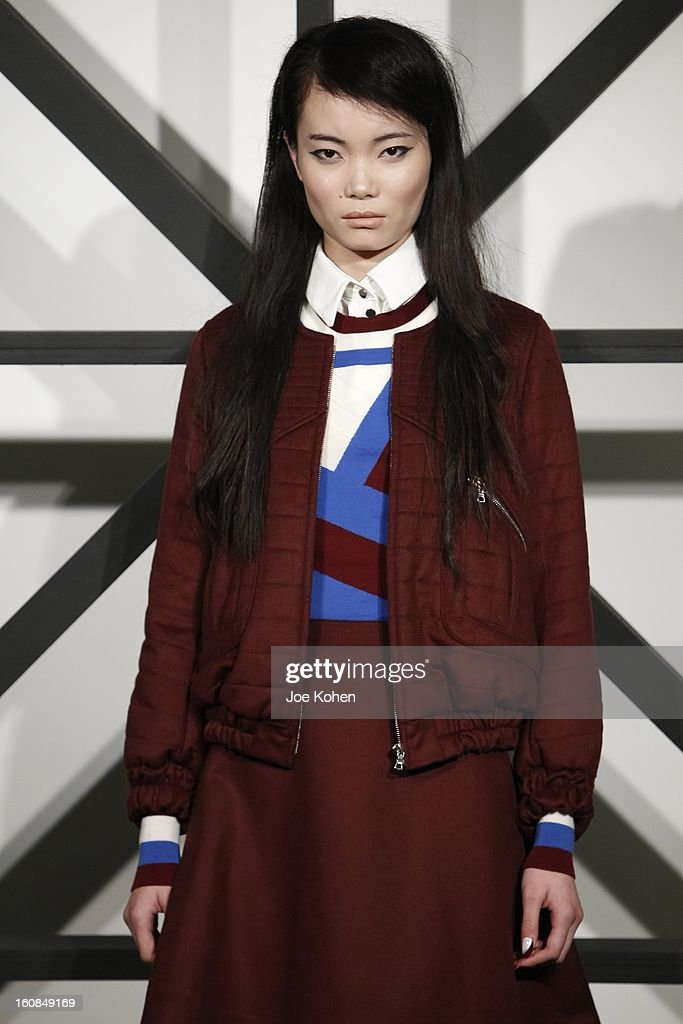 A model poses at the Tanya Taylor fall 2013 presentation at The Museum of Modern Art on February 6, 2013 in New York City.