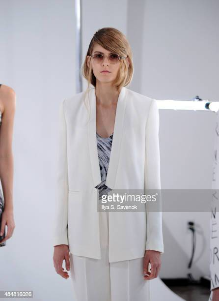 A model poses at the Zoe Jordan fashion show during MADE Fashion Week Spring 2015 at Milk Studios on September 6 2014 in New York City