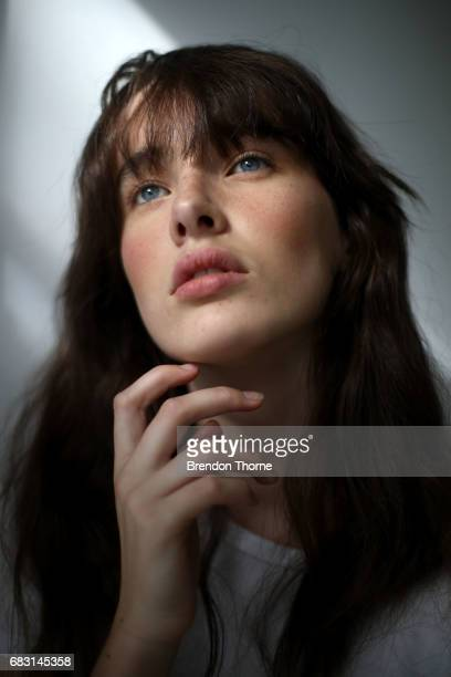 A model poses backstage ahead of the Albus Lumen show at MercedesBenz Fashion Week Resort 18 Collections at La Porte Deux on May 15 2017 in Sydney...