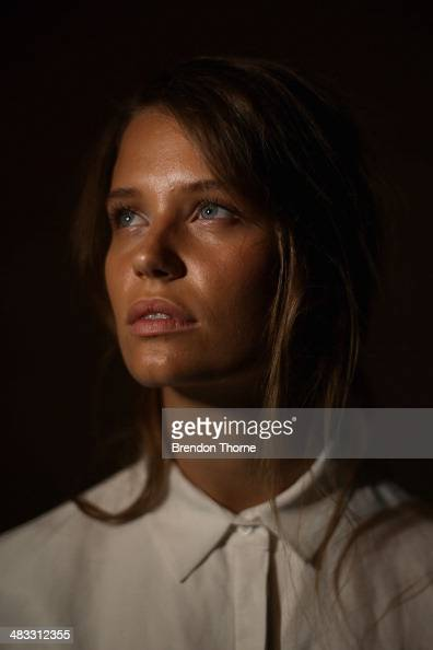 A model poses backstage ahead of the Cameo show at MercedesBenz Fashion Week Australia 2014 at Carriageworks on April 8 2014 in Sydney Australia
