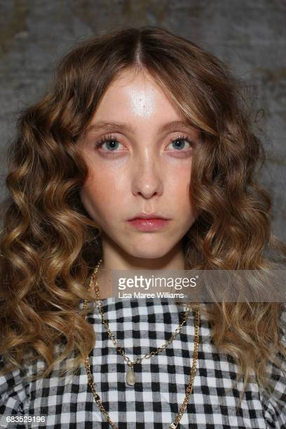 A model poses backstage ahead of the HANSEN GRETEL show at MercedesBenz Fashion Week Resort 18 Collections at Carriageworks on May 16 2017 in Sydney...
