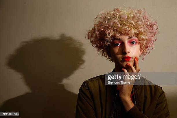A model poses backstage ahead of the Romance Was Born show at MercedesBenz Fashion Week Resort 17 Collections at Carthona Darling Point on May 18...