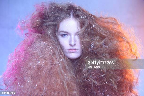 A model poses backstage ahead of the Romance Was Born show at MercedesBenz Fashion Week Resort 18 Collections at Carriageworks on May 18 2017 in...