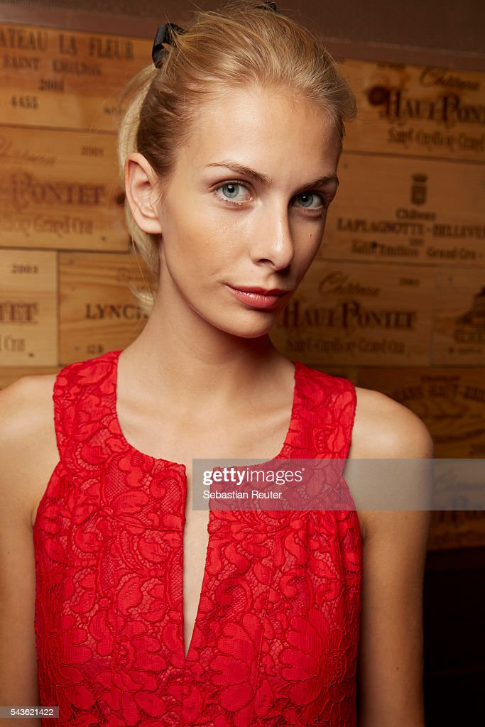 A model poses backstage at the 0039 Italy show during the Mercedes-Benz Fashion Week Berlin Spring/Summer 2017 at Borchardt on June 29, 2016 in Berlin, Germany.
