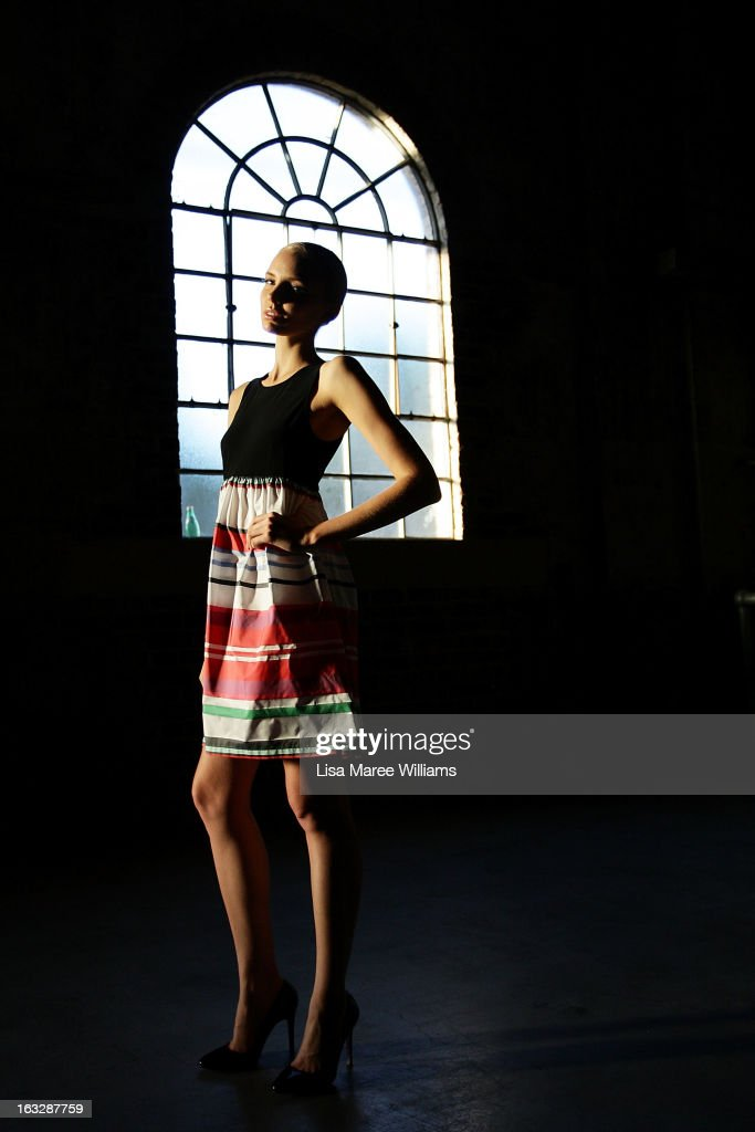 A model poses backstage during Fashion Palette 2013 at The Australian Technology Park on March 7, 2013 in Sydney, Australia.