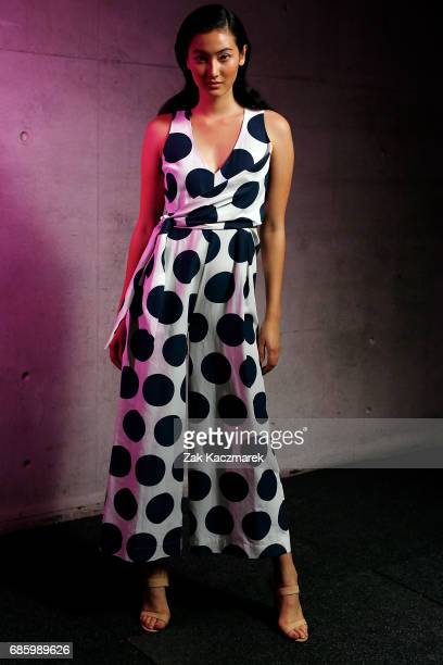 A model poses backstage during MercedesBenz Fashion Week Weekend Edition at Carriageworks on May 20 2017 in Sydney Australia