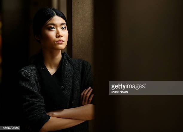 Model poses backstage for the Fashion Bloggers on Style Spring Edits show during MercedesBenz Fashion Festival Sydney at Sydney Town Hall on...