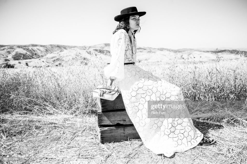 A model poses before the Christian Dior Cruise 2018 Runway Show at the Upper Las Virgenes Canyon Open Space Preserve on May 11, 2017 in Santa Monica, California.