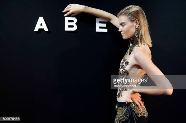 A model poses during the 'ABE' Joallerie Presentation by French Designer Ariane Chaumeil as part of Haute Couture Paris Fashion Week on July 6 2017...