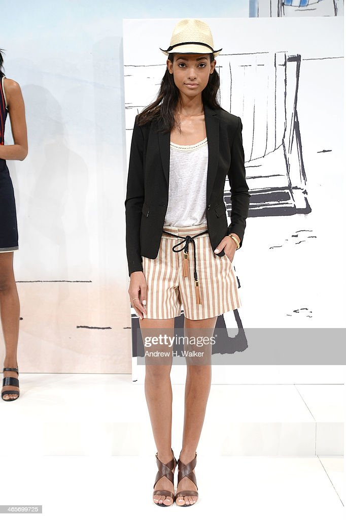 A model poses during the Ann Taylor Summer 2014 presentation on January 28 2014 in New York City
