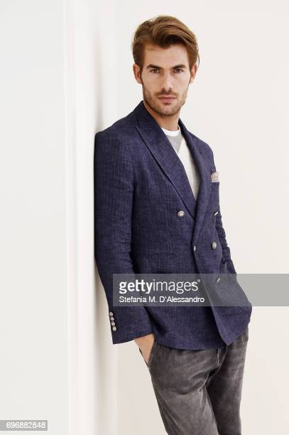 A model poses during the Brunello Cucinelli Presentation as part of Milan Men's Fashion Week Spring/Summer 2018 on June 17 2017 in Milan Italy