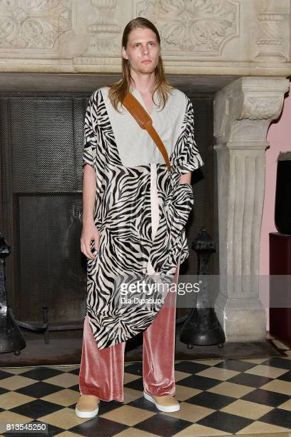 A model poses during the Palmiers Du Mal show at Gramercy Park Hotel on July 12 2017 in New York City