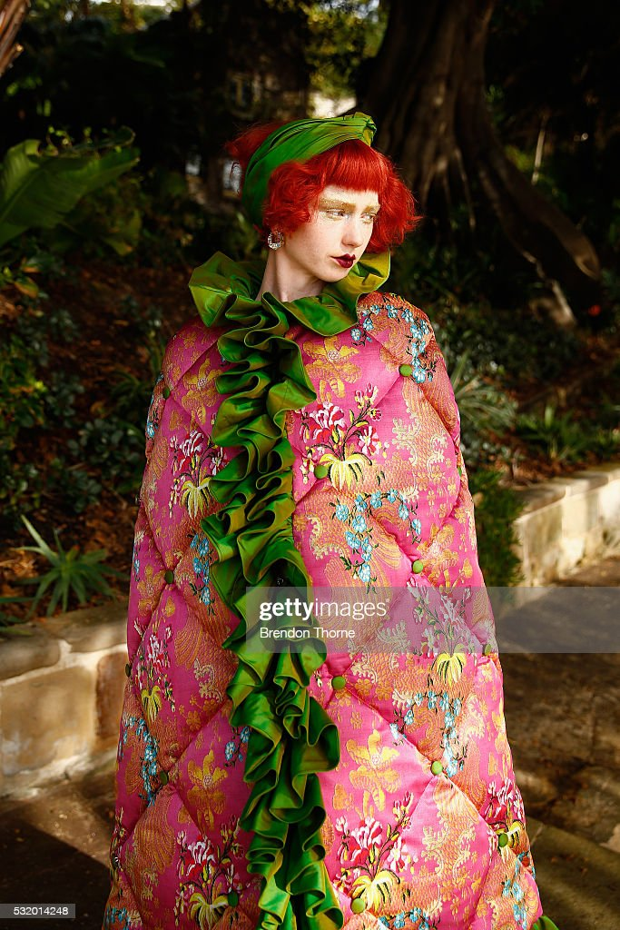 A model poses during the Romance Was Born show at MercedesBenz Fashion Week Resort 17 Collections at Carthona Darling Point on May 18 2016 in Sydney...