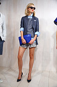 A model poses during the TRESemme at Banana Republic '15 Presentation at Milk Studios on November 10 2014 in New York City