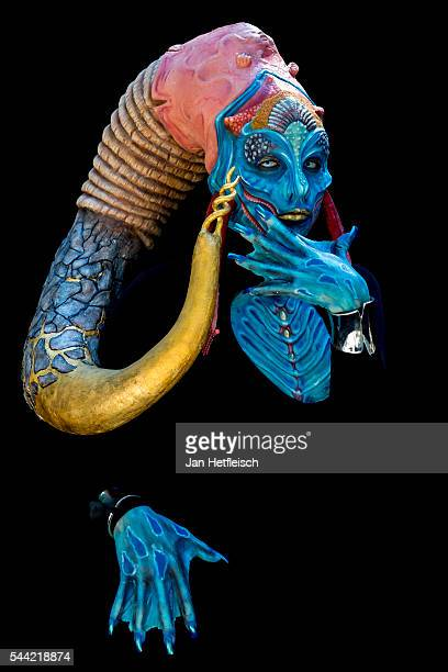 A model poses for a picture during the World Bodypainting Festival 2016 on July 1 2016 in Poertschach am Woerthersee Austria