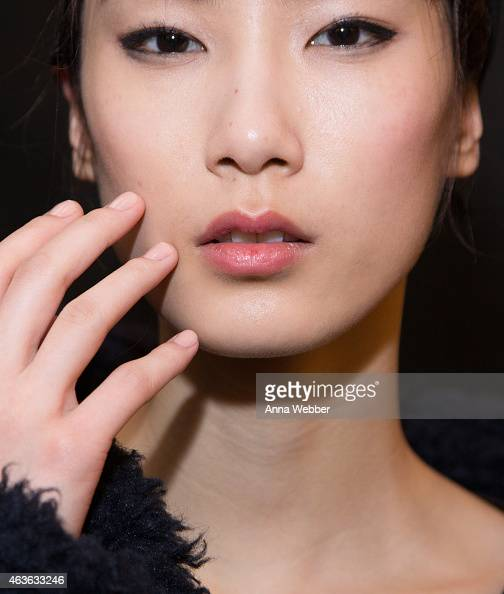 A model poses JINsoon at Rag Bone Fall 2015 New York Fashion Week at Spring Studios on February 16 2015 in New York City