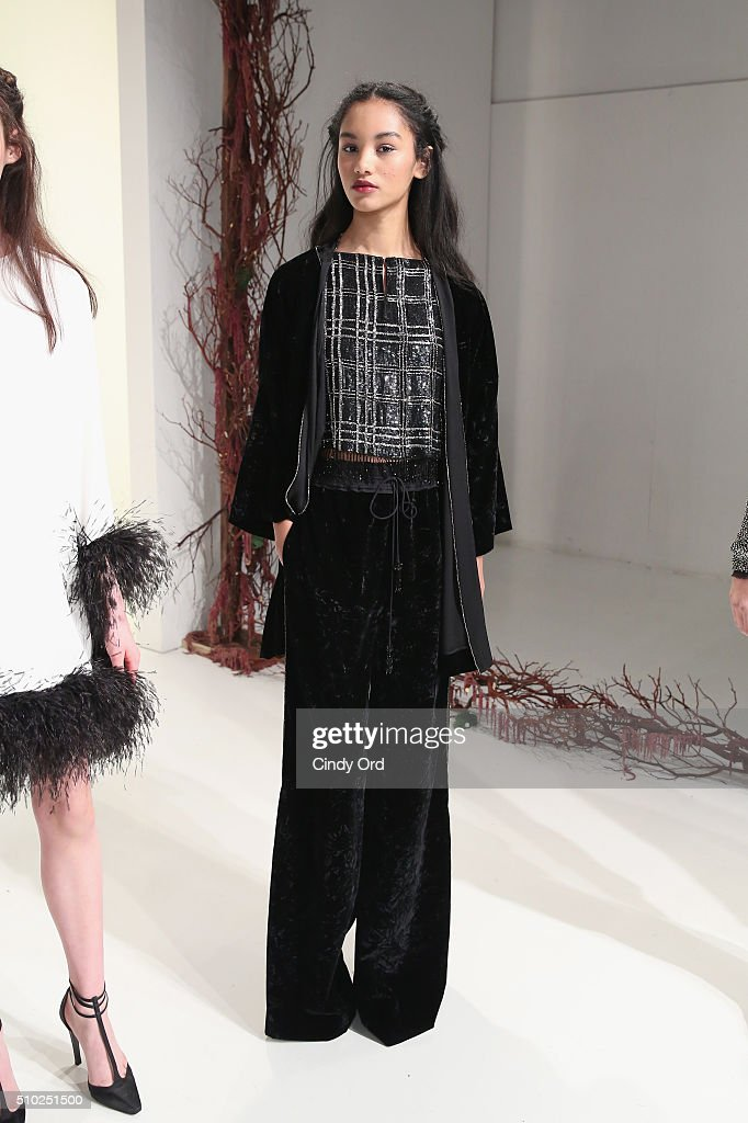 A model poses on the runway wearing Rachel Zoe Fall 2016 during New York Fashion Week: The Shows at The Space, Skylight at Clarkson Sq on February 14, 2016 in New York City.